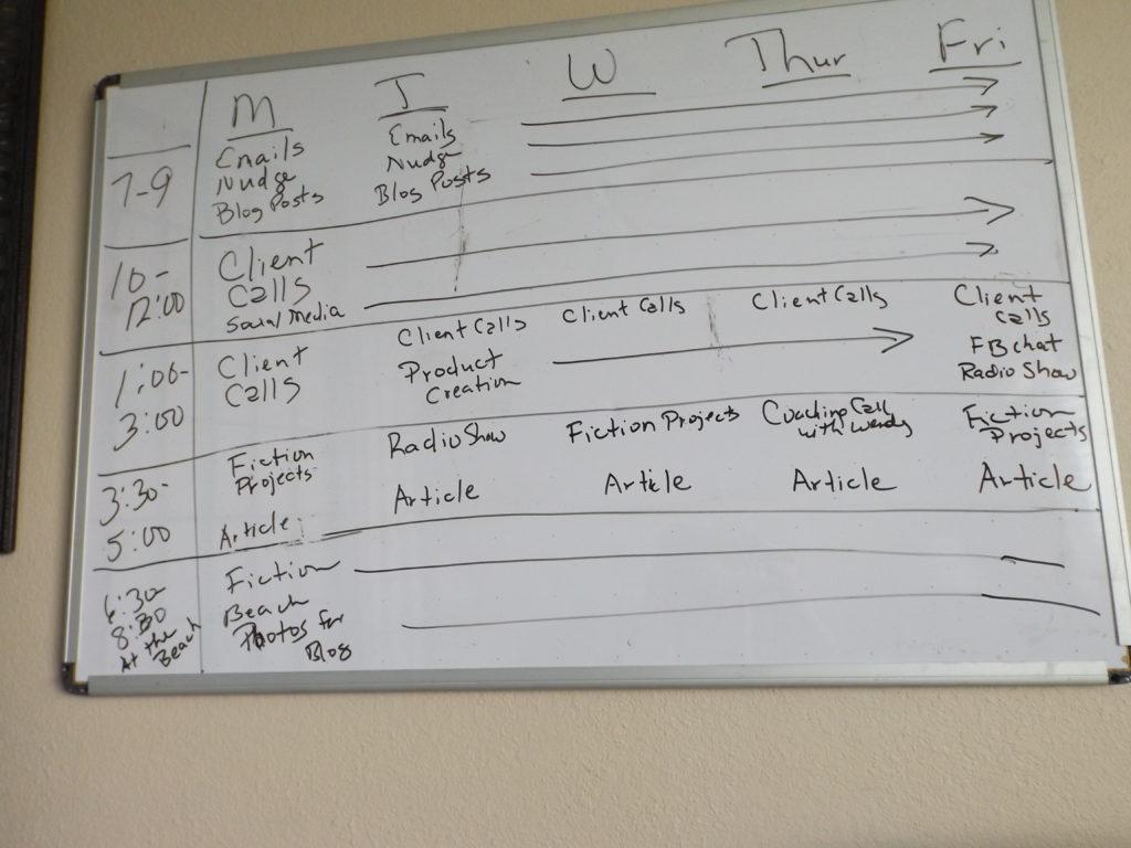 time blocking a schedule