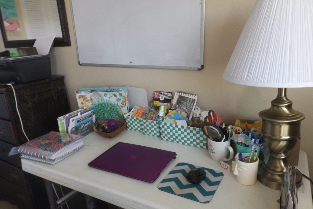 organize your writing space